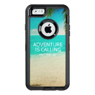 Het Avontuur van het strand roept de Telefoon van OtterBox Defender iPhone Hoesje