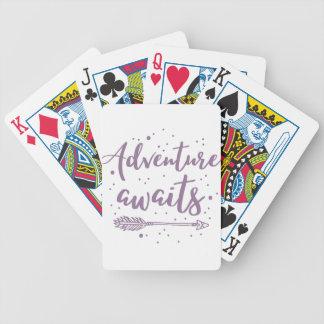 het avontuur wacht op in paars poker kaarten