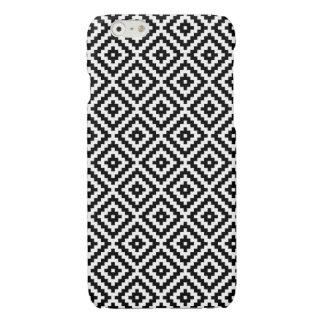 Het Azteekse Blok Rpt Ptn Zwarte & Witte I van het iPhone 6 Hoesje Glanzend