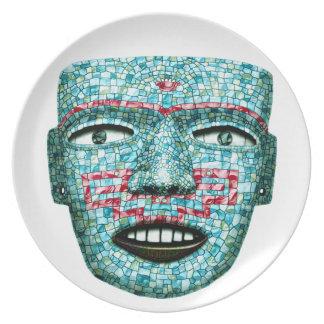 Het Azteekse Bord van het Masker van het Mozaïek
