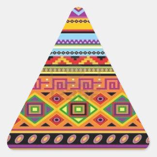 Het Azteekse Populaire Betaalbare Ontwerp van het Driehoekvormige Sticker
