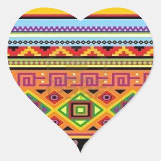 Het Azteekse Populaire Betaalbare Ontwerp van het Hartvormige Stickers