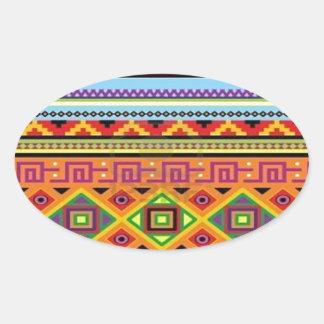 Het Azteekse Populaire Betaalbare Ontwerp van het Ovale Stickers