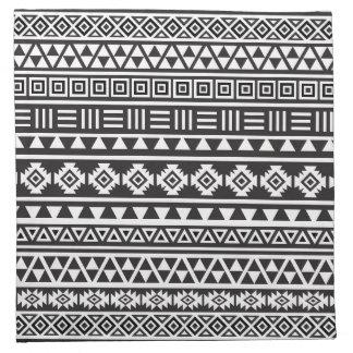 Het Azteekse Zwart-wit Patroon van de Stijl - Servet