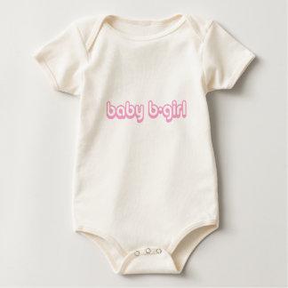 Het b-Meisje van het baby Leuke Klimplant Baby Shirt