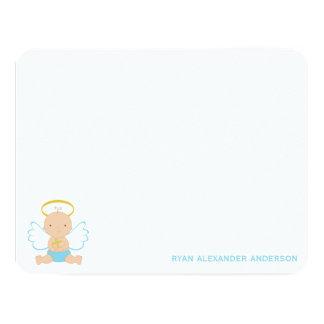 Het baby die Vlakte dopen dankt u nota neemt van 10,8x13,9 Uitnodiging Kaart