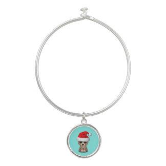 Het baby draagt dragend een Pet van de Kerstman Bangle Armbandje