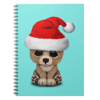 Het baby draagt dragend een Pet van de Kerstman Ringband Notitieboek