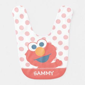 Het baby Elmo | voegt Uw Naam toe Baby Slabbetje