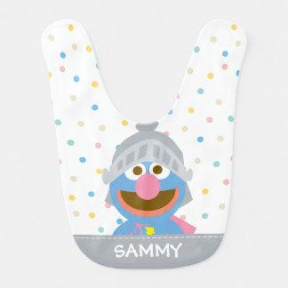 Het baby Grover in Pantser | voegt Uw Naam toe Baby Slabbetje