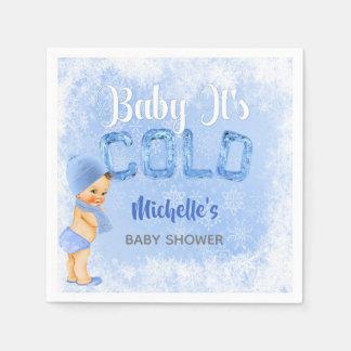 Het baby het is de Koude Douche van de Jongen van Papieren Servetten