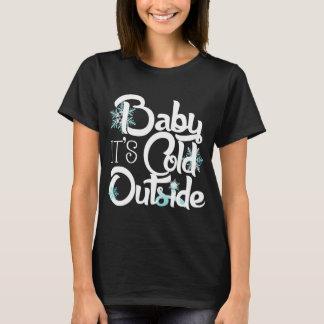Het baby het is Koud buiten Trendy Vakantie T Shirt
