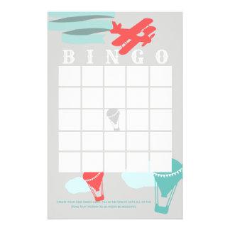 Het Baby shower Bingo van het avontuur Briefpapier