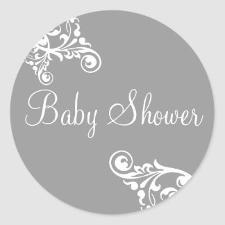 Het baby shower bloeit de Verbinding van de Ronde Sticker