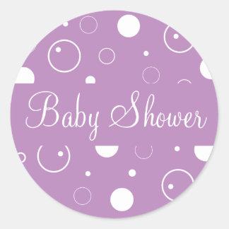 Het baby shower borrelt de Verbinding van de Ronde Sticker