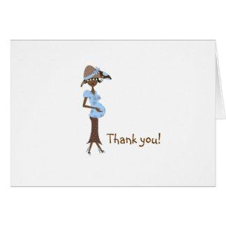 Het baby shower dankt u - Elegant Mamma Kaart