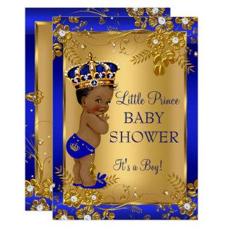 Het Baby shower Gouden Blauwe Afrikaanse Amerikaan Kaart