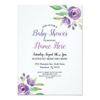 Het baby shower nodigt de BloemenSering van de Kaart