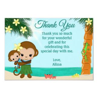 Het Baby shower van de Aap van Hula dankt u JONGEN Kaart