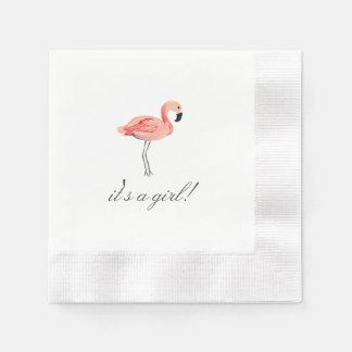 Het Baby shower van de flamingo Wegwerp Servetten