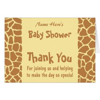 Het Baby shower van de giraf Kaart
