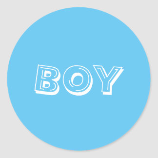 Het Baby shower van de jongen Ronde Sticker