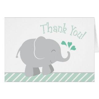 Het Baby shower van de olifant dankt u Groene de Briefkaarten 0