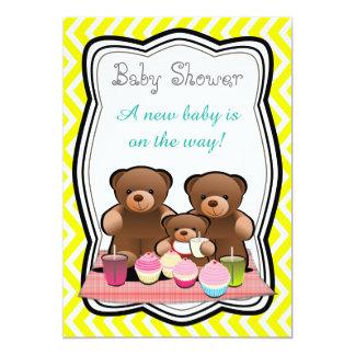 Het Baby shower van de Picknick van de teddybeer Kaart