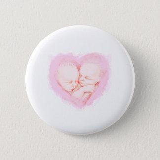 Het Baby shower van de Tweelingen van het Baby van Ronde Button 5,7 Cm