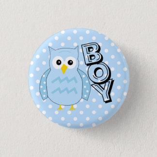 Het Baby shower van de Uil van de Jongen van het Ronde Button 3,2 Cm