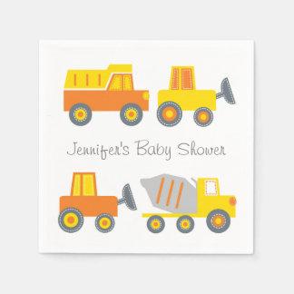 Het Baby shower van de Vrachtwagen van de bouw Wegwerp Servetten