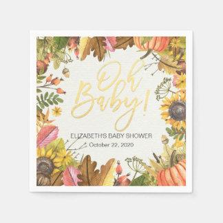 Het Baby shower van de Zonnebloem van de Pompoen Papieren Servetten
