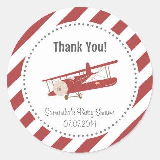 Het Baby shower van het vliegtuig dankt u Sticker