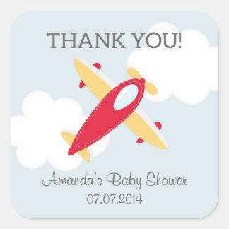 Het Baby shower van het vliegtuig dankt u Stickers