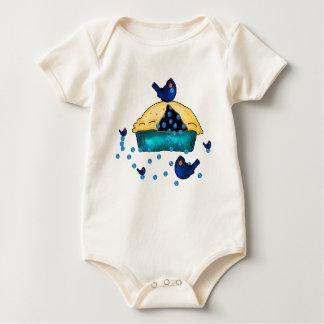 Het Baby T van de Vogels van de bosbes Baby Shirt