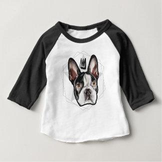 Het Baby van Boston Terrier van de koning Baby T Shirts
