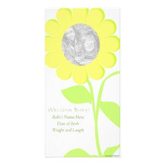 Het Baby van de bloem Gepersonaliseerde Fotokaarten