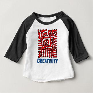 """Het Baby van de """"creativiteit"""" 3/4 Raglan T-shirt"""