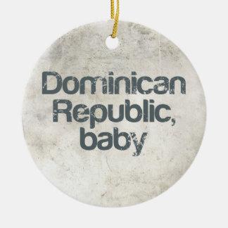 Het Baby van de Dominicaanse Republiek Rond Keramisch Ornament