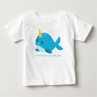 Het Baby van de Eenhoorn van de narwal/de T-shirt