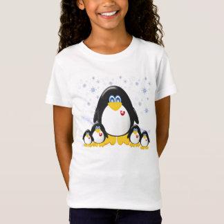 Het Baby van de Meisjes van de Partij van Penquin T Shirt