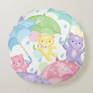 Het Baby van de paraplu draagt om Hoofdkussen Rond Kussen