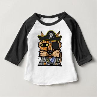 """Het Baby van de piraat """"van Kat"""" 3/4 Raglan Baby T Shirts"""