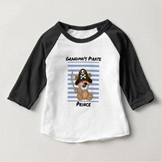 Het Baby van de Prins van de Piraat van de oma 3/4 Baby T Shirts