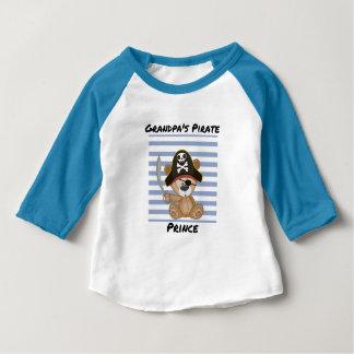Het Baby van de Prins van de Piraat van de opa 3/4 Baby T Shirts