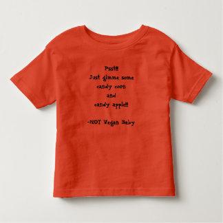 Het Baby van de Veganist van Halloween Kinder Shirts