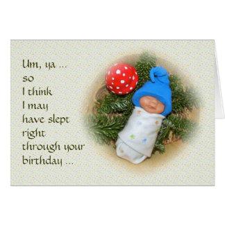 Het Baby van het elf: Mag door Uw Verjaardag gesla Wenskaart