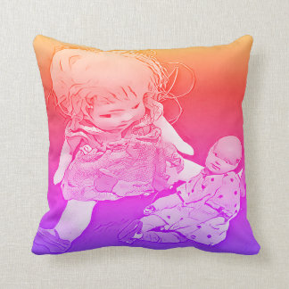 Het Baby van het meisje - de Kleuren van de Sierkussen
