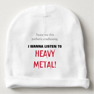Het baby wil aan ZWAAR METAAL luisteren! Baby Mutsje