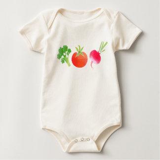 Het babybodysuit van de Broccoli, van de Tomaat en Baby Shirt